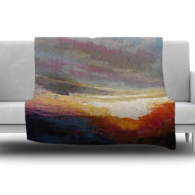 Georgia Morning by Carol Schiff Fleece Throw Blanket Size: 40 L x 30 W