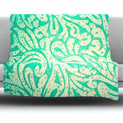 Spring Paisley by Alveron Fleece Throw Blanket Size: 40 H x 30 W