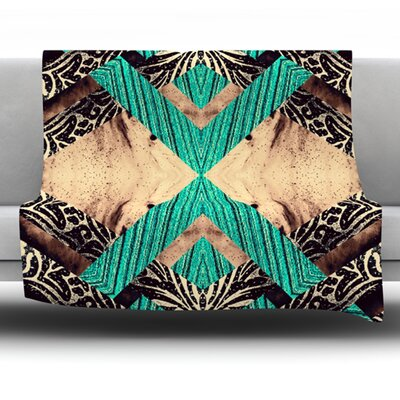 Woven Paisley by Alveron Fleece Throw Blanket Size: 60 H x 50 W