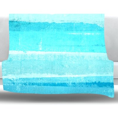 Sand Bar by CarolLynn Tice Fleece Throw Blanket Size: 60 L x 50 W
