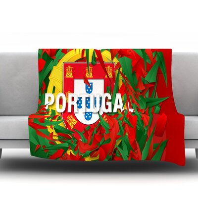 Portugal by Danny Ivan Fleece Throw Blanket Size: 40