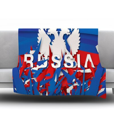 Russia by Danny Ivan Fleece Throw Blanket Size: 80 H x 60 W
