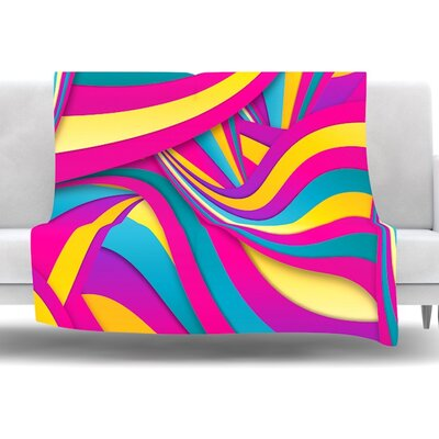 Swirls Everywhere by Danny Ivan Fleece Throw Blanket Size: 40 L x 30 W