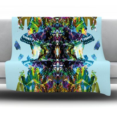 Butterfly by Danii Pollehn Fleece Throw Blanket Size: 80 L x 60 W