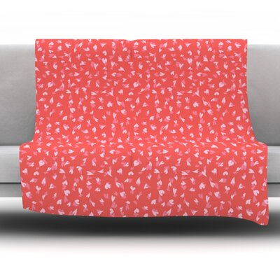 Love Confetti by Emma Frances Fleece Throw Blanket Size: 80 H x 60 W