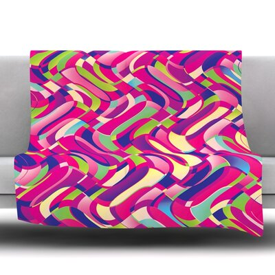 Colorful Movement by Dawid Roc Fleece Throw Blanket Size: 80 L x 60 W