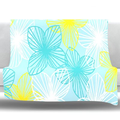 Sunshine by Emine Ortega Fleece Throw Blanket Size: 60 L x 50 W
