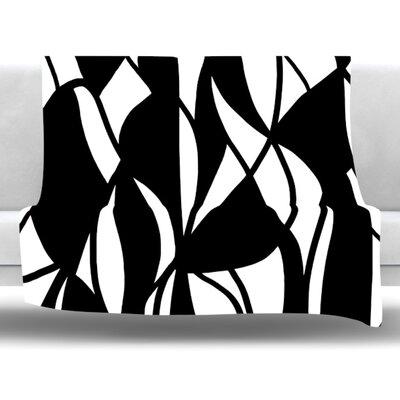 Sinuous by Emine Ortega Fleece Throw Blanket Size: 40 L x 30 W