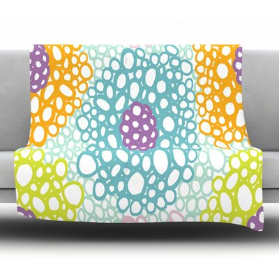 Bubbly by Emine Ortega Fleece Throw Blanket Size: 80 H x 60 W