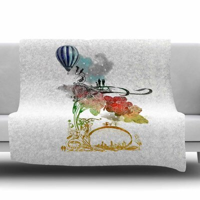 A Little Paradise by Frederic Levy-Hadida Fleece Throw Blanket Size: 80 L x 60 W