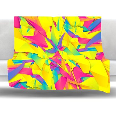Bubble Gum Explosion by Danny Ivan Fleece Throw Blanket Size: 60 L x 50 W