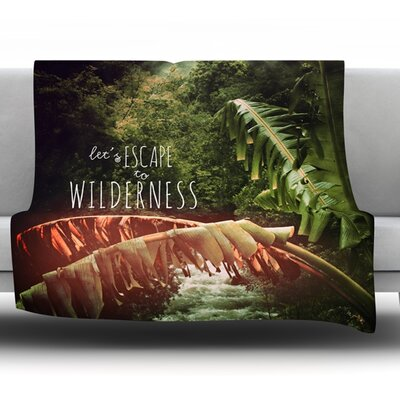 Escape to Wilderness by Deepti Munshaw Fleece Throw Blanket Size: 40 L x 30 W