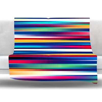 Blurry Lines by Danny Ivan Fleece Throw Blanket Size: 40 H x 30 W