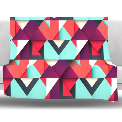 Shapes by Danny Ivan Fleece Throw Blanket Size: 40 H x 30 W