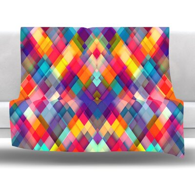 Squares Everywhere by Danny Ivan Fleece Throw Blanket Size: 60 H x 50 W