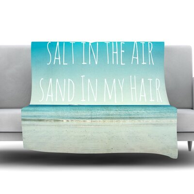 Salt in the Air by Debbra Obertanec Fleece Throw Blanket Size: 60 L x 50 W