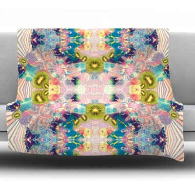 Psychedelia by Danii Pollehn Fleece Throw Blanket Size: 80 H x 60 W
