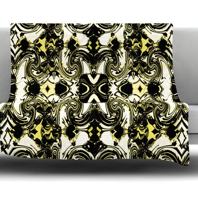 The Palace Walls II by Dawid Roc Fleece Throw Blanket Size: 80 H x 60 W