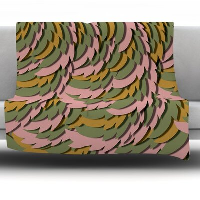 Wings II by Akwaflorell Fleece Throw Blanket Size: 80 H x 60 W