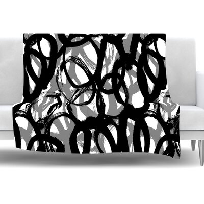 Rhythm by Emine Ortega Fleece Throw Blanket Size: 80 L x 60 W