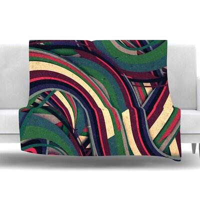 Swirl Madness by Danny Ivan Fleece Throw Blanket Size: 80 L x 60 W