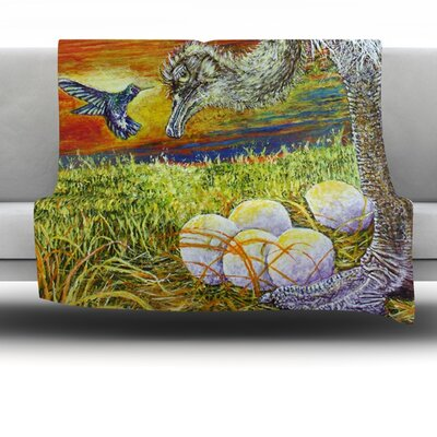 Ostrich by David Joyner Fleece Throw Blanket Size: 80 H x 60 W