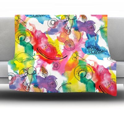 Fruits by Danii Pollehn Fleece Throw Blanket Size: 60 H x 50 W