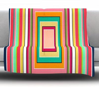 Floor Pattern by Danny Ivan 40 Fleece Throw Blanket Size: 80 H x 60 W