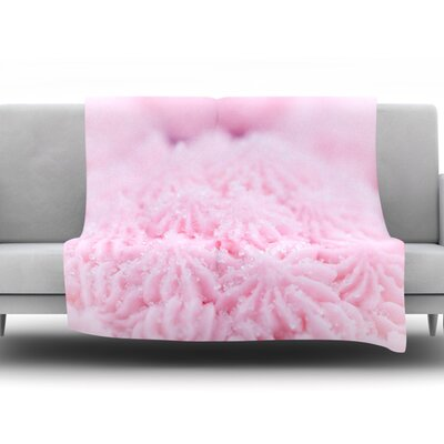 Cupcake by Debbra Obertanec Fleece Throw Blanket Size: 40 L x 30 W