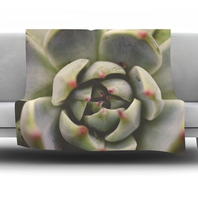 Desert Succulent by Debbra Obertanec Fleece Throw Blanket Size: 60 H x 50 W