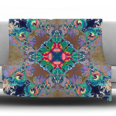 Flowery by Danii Pollehn Fleece Throw Blanket Size: 80 L x 60 W