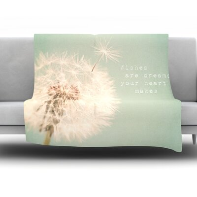 Wishes Are Dreams by Debbra Obertanec Fleece Throw Blanket Size: 80 H x 60 W