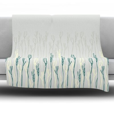 Dainty Shoots by Emma Frances Fleece Throw Blanket Size: 80 L x 60 W