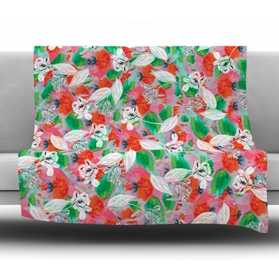 Flying Tulips by Akwaflorell Fleece Throw Blanket Size: 40 L x 30 W