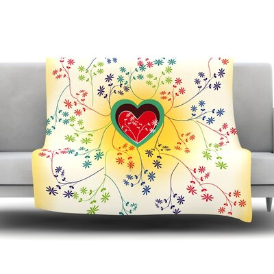 Romantic by Famenxt Fleece Throw Blanket Size: 40 L x 30 W