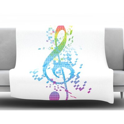 Rainbow Key by Frederic Levy-Hadida Fleece Throw Blanket Size: 60 L x 50 W