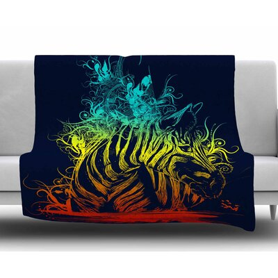 Wild Nature by Frederic Levy-Hadida Fleece Throw Blanket Size: 40 L x 30 W