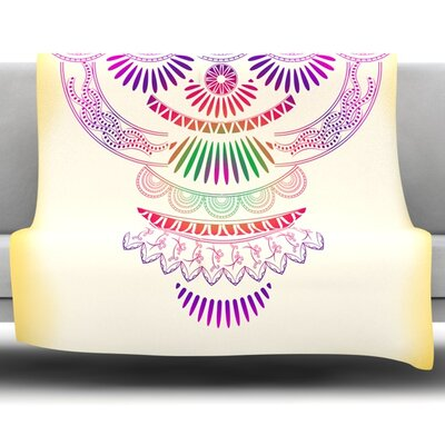 Decorative Ornament by Famenxt Fleece Throw Blanket Size: 60