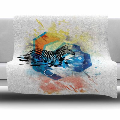 Walk Off The Colors by Frederic Levy-Hadida Fleece Throw Blanket Size: 40 L x 30 W