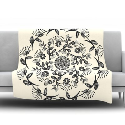 Decorative Mandala by Famenxt Fleece Throw Blanket Size: 60 H x 50 W