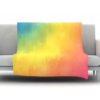 Watercolor Layers by Fotios Pavlopoulos Fleece Throw Blanket Size: 40 L x 30 W