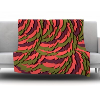 Wings III by Akwaflorell Fleece Throw Blanket Size: 60 H x 50 W