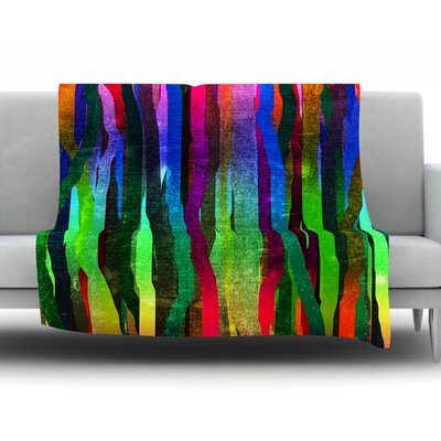 Jungle Stripes II by Frederic Levy-Hadida Fleece Throw Blanket Size: 60 H x 50 W