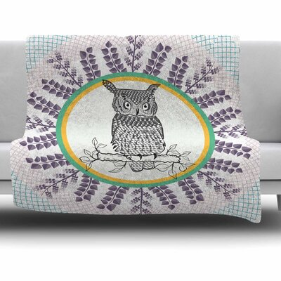 Owl by Famenxt Fleece Throw Blanket Size: 40 L x 30 W