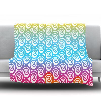 Ethnic Spirals by Frederic Levy-Hadida Fleece Throw Blanket Size: 60 H x 50 W