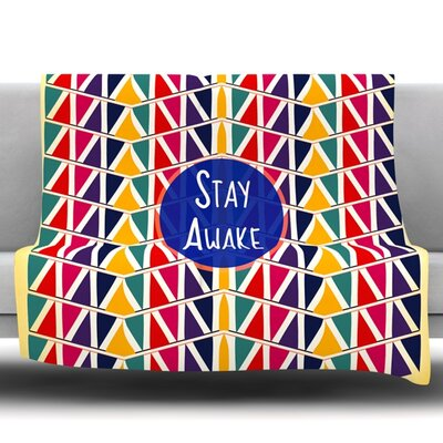 Stay Awake by Famenxt Fleece Throw Blanket Size: 40 L x 30 W