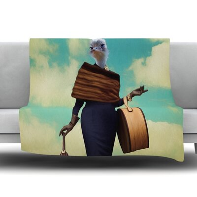 Passenger 1A by Natt Fleece Throw Blanket Size: 80 L x 60 W