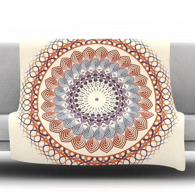Vintage Mandala by Famenxt Fleece Throw Blanket Size: 80 L x 60 W