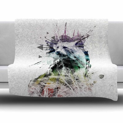 Predation Instinct by Frederic Levy-Hadida Fleece Throw Blanket Size: 40 L x 30 W