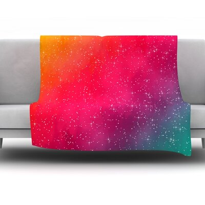 Colorful Constellation by Fotios Pavlopoulos Fleece Throw Blanket Size: 60 L x 50 W
